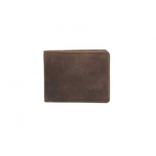 Бумажник KLONDIKE «Peter», натуральная кожа в темно-коричневом цвете, 12 х 9,5 см