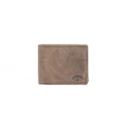 Бумажник KLONDIKE «Rob», натуральная кожа в коричневом цвете, 12,5 х 10 см
