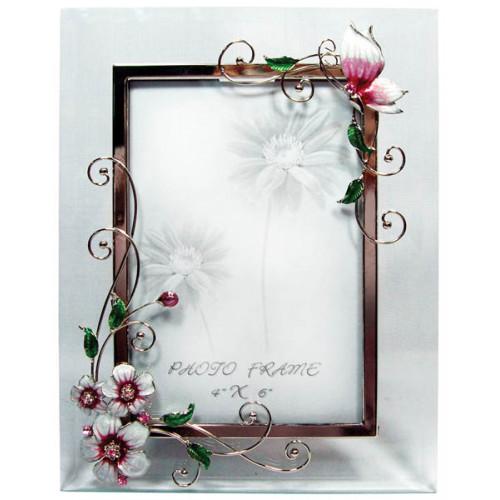 """Рамка для фотографии  Jardin D'Ete  """"Розовая глазурь"""", сталь, стекло, 18 х 23 см, фото 10 х15 см"""
