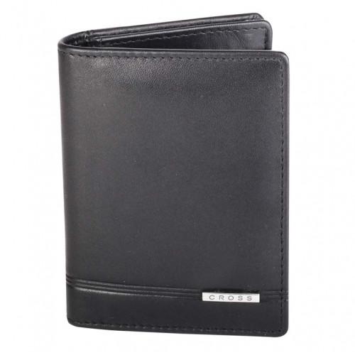 Обложка для кредитных карт Cross Classic Century, кожа наппа, гладкая, чёрный, 8 х 2 х 10,5 см