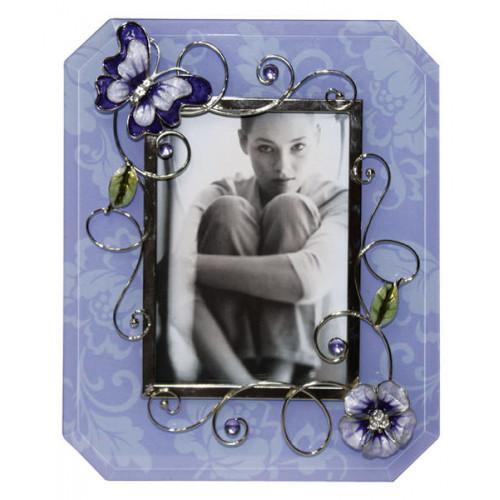"Рамка для фотографии  Jardin D'Ete  ""Сиреневая фантазия"", сталь, стекло, 18 х 23 см, фото 10 х15 см"