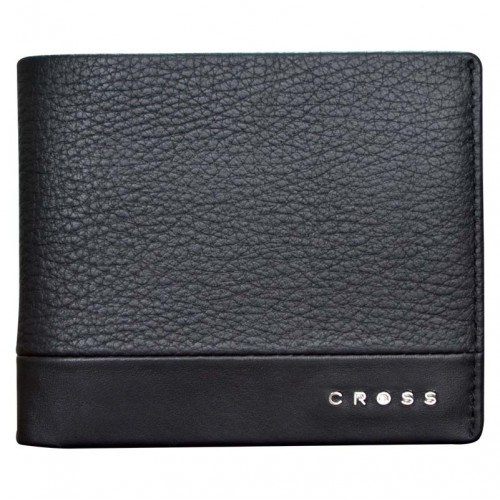 Кошелёк, Cross Nueva FV, кожа наппа, фактурная, чёрный, 11 х 1,5 х 9 см