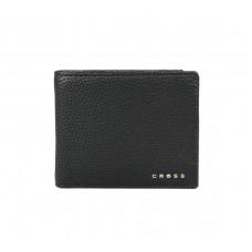 Кошелёк Cross Nueva Management Black, кожа наппа, фактурная, чёрный, 11 х 9 х 1,5 см