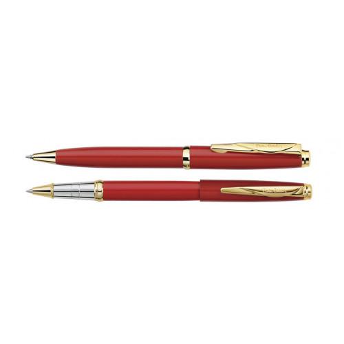 Набор Pierre Cardin PEN&PEN: ручка шариковая + роллер. Цвет - красный.Упаковка Е.