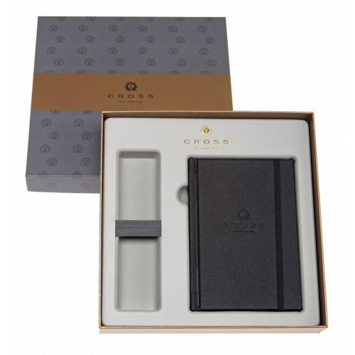 Набор Cross: Блокнот в подарочной коробке с местом под ручку