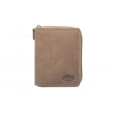 Бумажник KLONDIKE «Dylan», натуральная кожа в коричневом цвете, 10,5 х 13,5 см