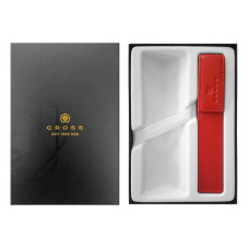 Набор Cross: красный чехол для ручки в коробке с местом под ручку