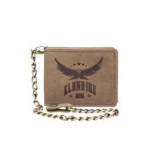 Бумажник KLONDIKE «Harry Eagle», натуральная кожа в коричневом цвете, 12,5 х 10 см