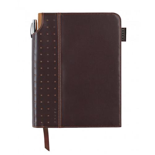 Записная книжка Cross Journal Signature A5, 250 страниц в линейку, ручка 3/4. Цвет - коричневый