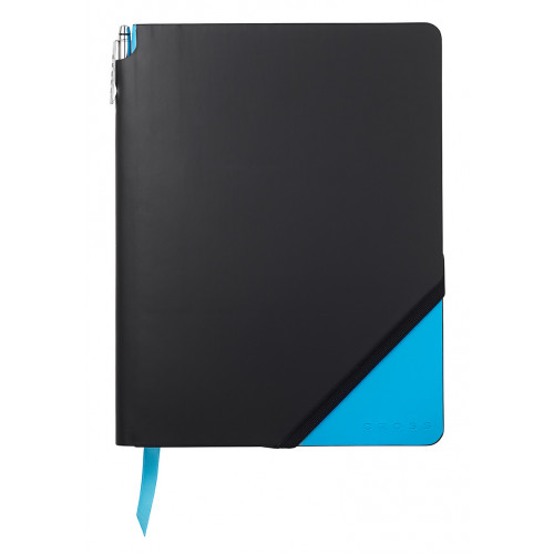 Записная книжка Cross Jot Zone, A4, 160 страниц в линейку, ручка в комплекте. Цвет - черно-св.с