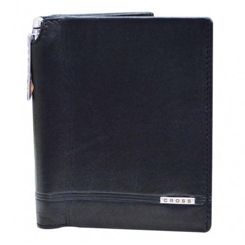 Бумажник большой Cross Classic Century с ручкой, кожа наппа, гладкая, чёрный, 10,5 х 1,5 х 12,5 см