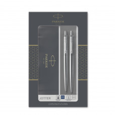 Подарочный набор Parker: Jotter Core Stainless Steel CT - ручка шариковая и карандаш