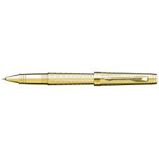Роллерная ручка Parker Premier, цвет - золотой