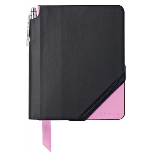 Записная книжка Cross Jot Zone, A6,  160 страниц в линейку, ручка в комплекте. Цвет - черно-розов
