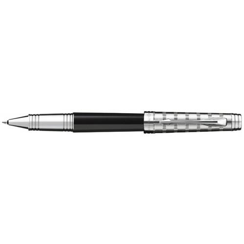 Роллерная ручка Parker Premier, цвет - черный/серебро