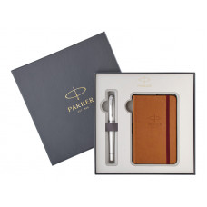 Подарочный набор Parker: Перьевая ручка Parker Urban Premium Pearl + блокнот