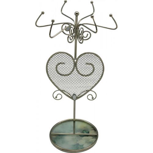 """Подставка для украшений  Jardin D'Ete  """"Акварель"""", сталь, стекло, 14 х 14 х 27 см, зелёный"""
