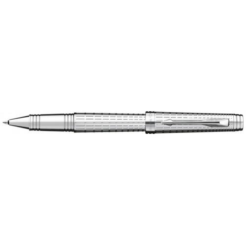 Роллерная ручка Parker Premier, цвет - серебро