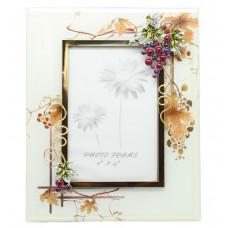 """Рамка для фотографии  Jardin D'Ete  """"Виноградная лоза"""", сталь, стекло, 17,5 х 23 см, фото 10 х 15 см"""