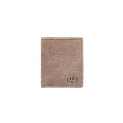 Бумажник KLONDIKE «Finn», натуральная кожа в коричневом цвете, 10 х 11,5 см