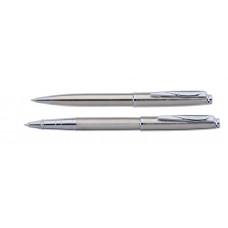 Набор Pierre Cardin PEN and PEN: ручка шариковая + роллер. Цвет - стальной.