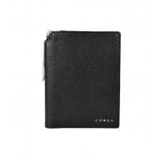 Бумажник для документов Cross Hudson Black, с ручкой Cross, кожа наппа, фактурная, черный