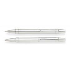 Набор Cross Nile: шариковая ручка и механический карандаш 0.7мм. Цвет - серебристый.