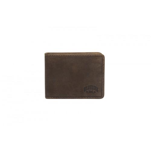 Бумажник KLONDIKE «Billy», натуральная кожа в темно-коричневом цвете, 11 х 8,5 см