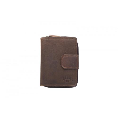 Бумажник женский KLONDIKE «Wendy», натуральная кожа в темно-коричневом цвете, 10 х 13,5 см