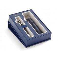 Подарочный набор Waterman: Шариковая ручка Waterman Hemisphere MBlk CT с чехлом из эко-кожи