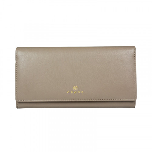 Кошелёк Cross Monaco Taupe, кожа наппа, гладкая, цвет бежевый, 20 x 11 x 2,5 см