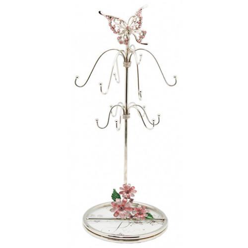 """Подставка для украшений  Jardin D'Ete """"Сиреневые сны"""", сталь, стекло, 10 х 10 х 28 см"""