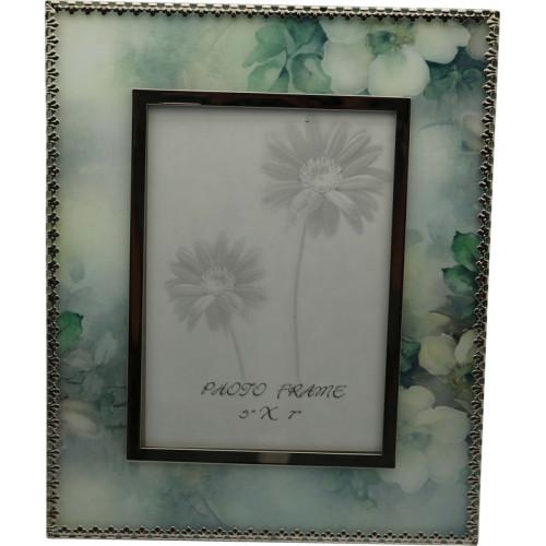 """Рамка для фотографии Jardin D'Ete """"Акварель"""", cталь, стекло, размер фото 13 х 18 см, зелёный"""