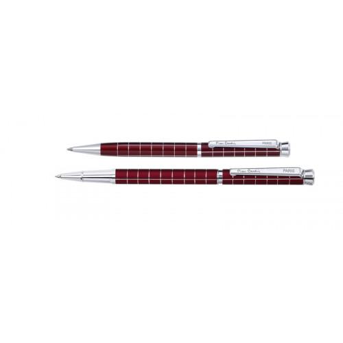 Набор  Pierre Cardin PEN&PEN: ручка шариковая + роллер. Цвет - т.красный. Упаковка Е.