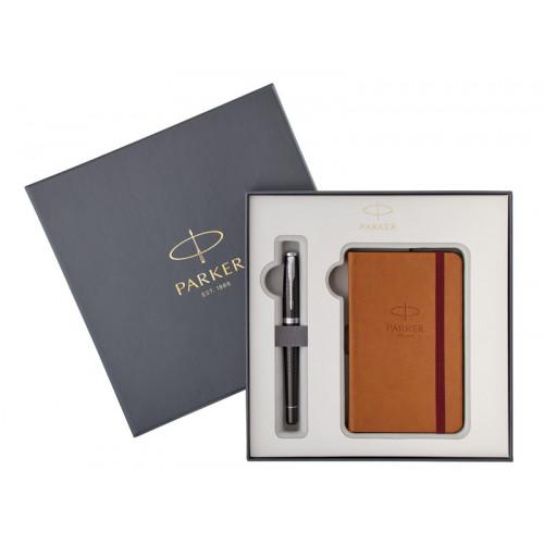 Подарочный набор Parker: Перьевая ручка Parker Urban Premium Ebony + блокнот