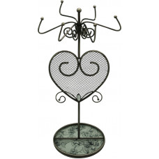 """Подставка для украшений  Jardin D'Ete  """"Эскиз"""", сталь, стекло, 14 х 14 х 27 см, белый/чёрный"""