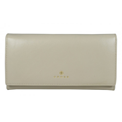 """Кошелёк Cross Monaco Ivory, кожа наппа, гладкая, цвет """"слоновая кость"""", 20 x 11 x 2,5 см"""