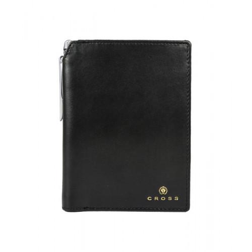 Бумажник для документов Cross Concordia Black, с ручкой Cross, кожа наппа, гладкая, черный