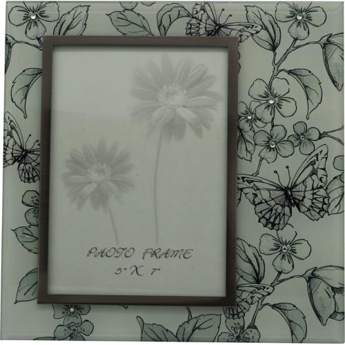 """Рамка для фотографии Jardin D'Ete """"Эскиз"""", cталь, стекло, размер фото 13 х 18 см, белый/чёрный"""