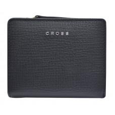 Кошелёк Cross RTC, кожа наппа тиснёная, цвет черный, 11,2 x 9,4 x 2 см