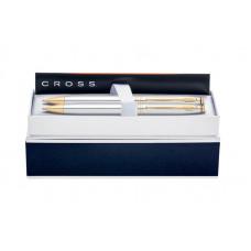 Набор Cross Avitar: шариковая ручка и механический карандаш 0.7мм. Цвет - серебристый.