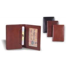 Визитница кожаная персональная, дополнительно 2 плоских кармана 75х105 В.05097